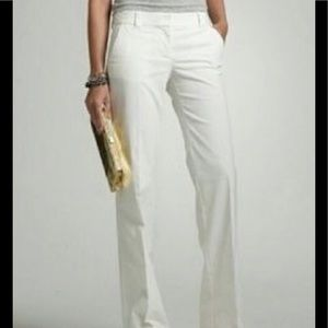 J Crew Favorite Fit Classic white pants